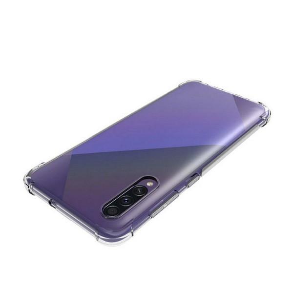 64-мегапиксельный смартфон Samsung Galaxy A70s позирует в прозрачном чехле