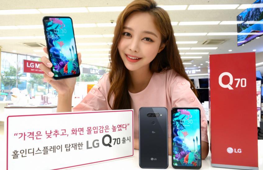 Анонс LG Q70: экран с отверстием, Hi-Fi и 32-Мп камера