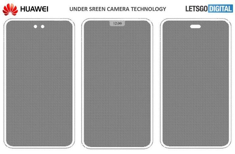 Huawei хочет спрятать за дисплей смартфона камеру, вспышку и датчики