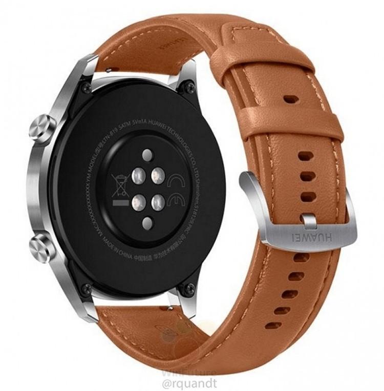 Смарт-часы Huawei Watch GT 2 с ЧСС-датчиком предстали на качественных рендерах