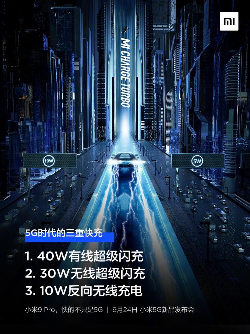 Xiaomi тизерит способности Mi Charge Turbo в Mi 9 Pro 5G