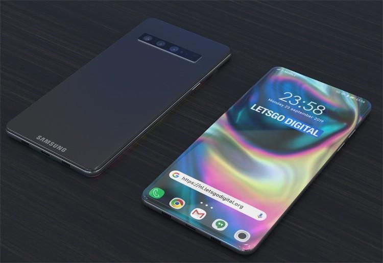 Новый дизайн смартфона Samsung: экран «от края до края» и скрытая селфи-камера