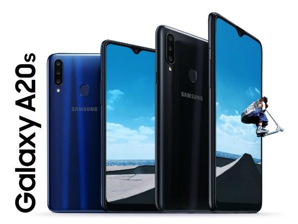 Samsung Galaxy A20s спереди и сзади
