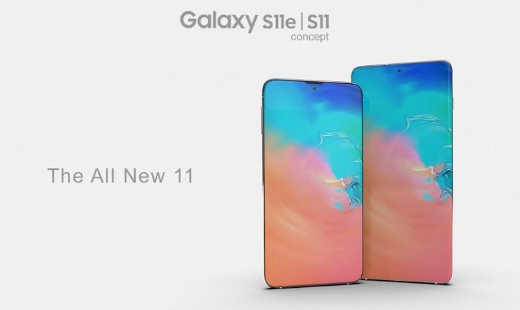 Samsung Galaxy S11 с экраном-водопадом показали на рендерах - 1
