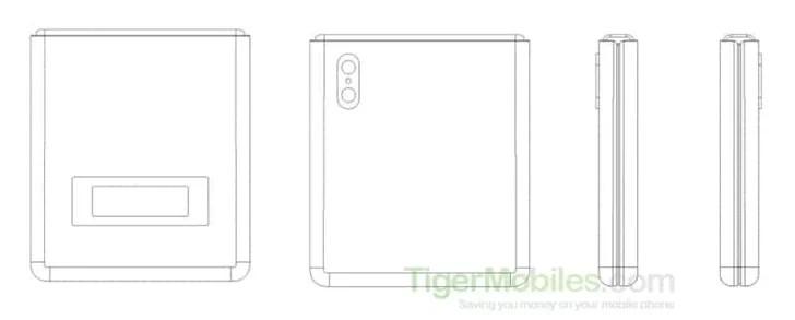 Xiaomi запатентовала аналог раскладушки Motorola Razr - 1