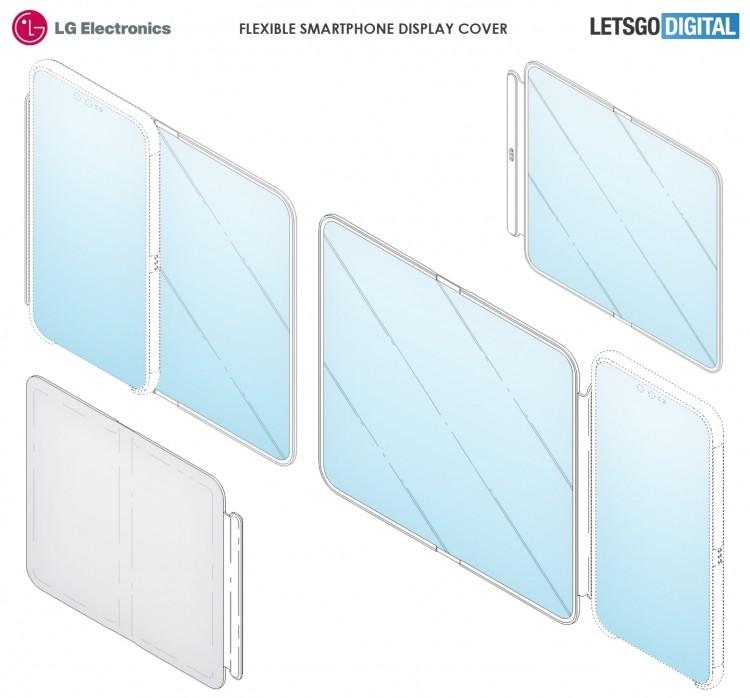LG запатентовала чехол для смартфона с большим гибким дисплеем