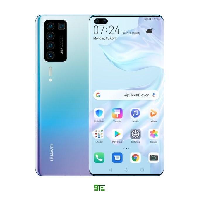 Рендер раскрывает дизайн Huawei P40 Pro – фото 1