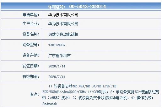 Характеристики Huawei XS раскрыты новым сертификатом на сайте Министерства промышленности и информатизации КНР – фото 1