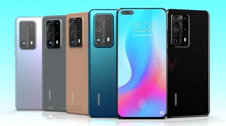 Huawei P40 Pro вновь визуализировали