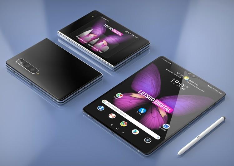 Новый гибкий смартфон Samsung Galaxy Z Fold позирует на рендерах с пером S Pen