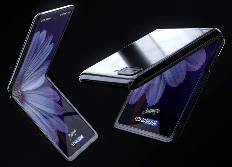Появилось видео с демонстрацией первой раскладушки Samsung Galaxy Z Flip с гибким дисплеем - 1