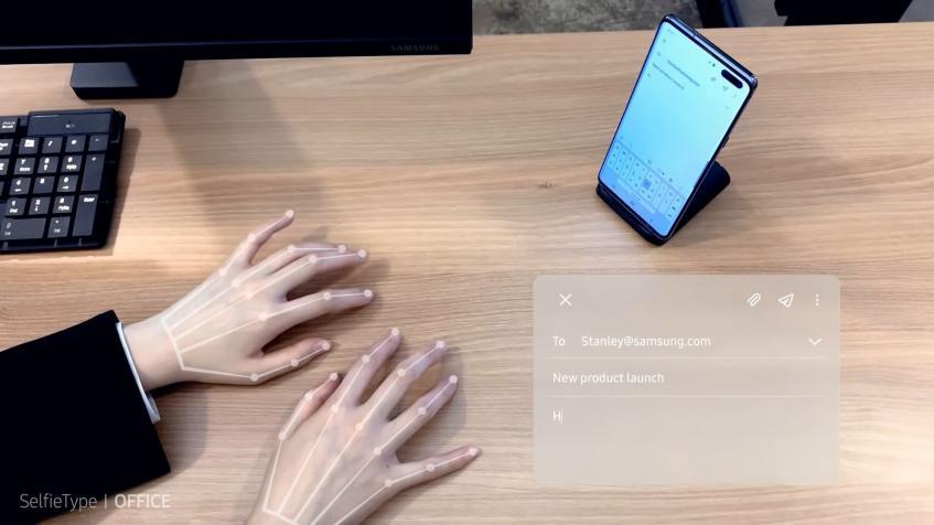 Samsung SelfieType — виртуальная клавиатура для ввода текста – фото 1
