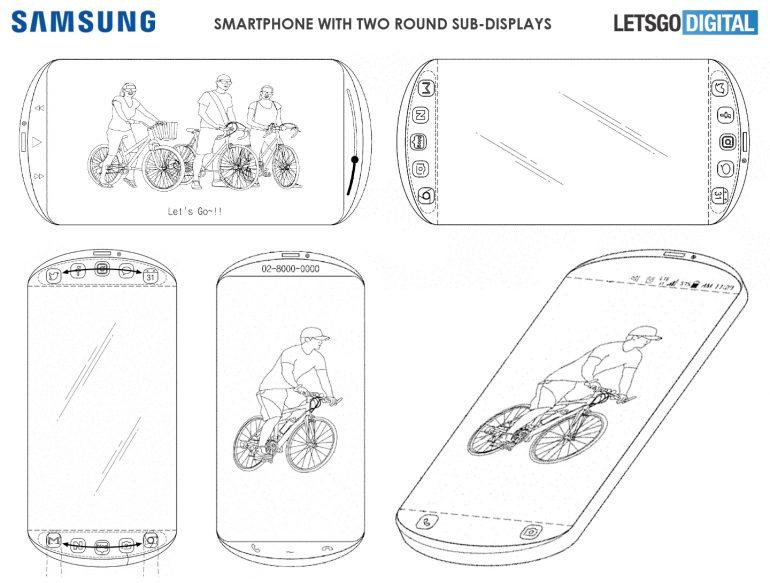 Samsung патентует трехдисплейный смартфон