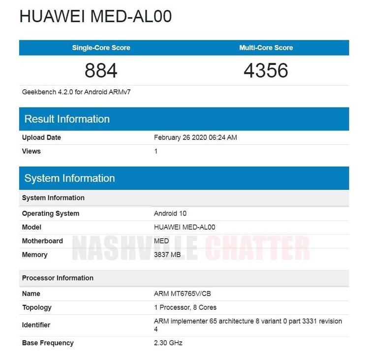 Huawei выпустит смартфон на платформе MediaTek Helio P35