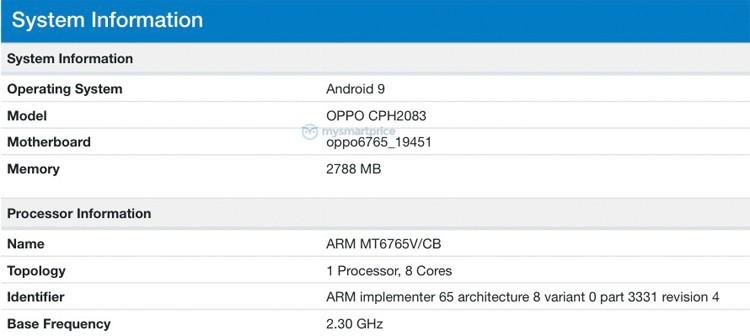 Грядёт выход недорогого смартфона OPPO A12 с чипом MediaTek Helio P35