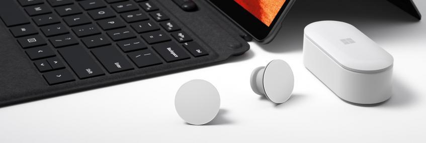 Самые необычные полностью беспроводные наушники готовы к выходу на рынок. Microsoft Surface Earbuds прошли сертификацию FCC