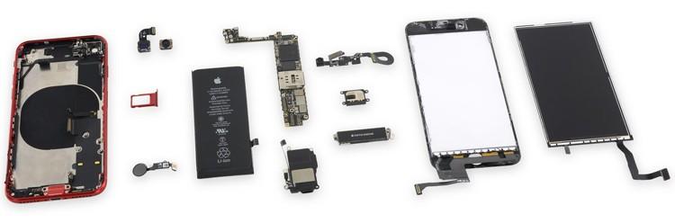 Смартфон iPhone SE 2020 обладает хорошей ремонтопригодностью