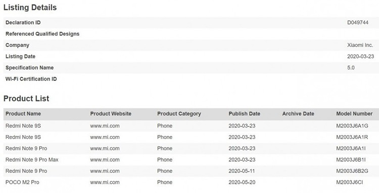 Xiaomi в ближайшем будущем презентует телефон Poco M2 Pro