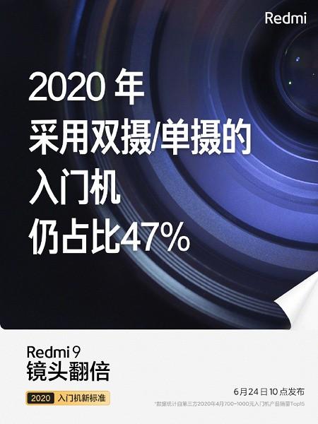 Самая интересная версия Redmi 9 выйдет 24 июня