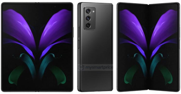 Гибкий телефон Samsung Galaxy Z Fold 2 5G стал во всей красоте на качественных изображениях