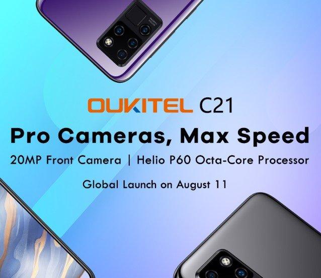 Helio P60, FullHD+, квадрокамера, 4/64 ГБ по цене менее 0. Oukitel готовит лучший смартфон в своей ценовой категории