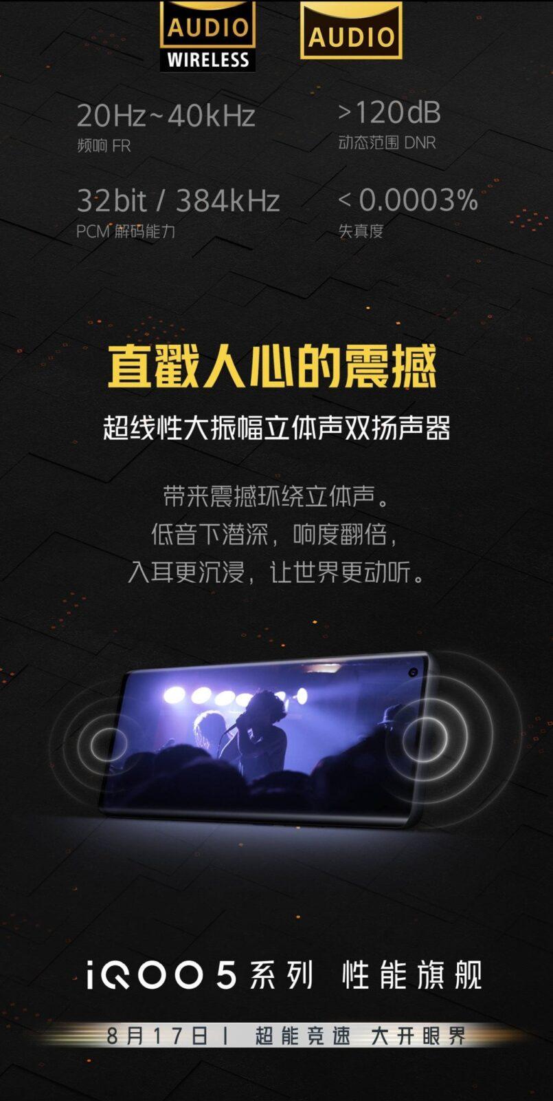 120 Дб, Hi-Res Audio, 120 Вт и 120 Гц. Смартфон Iqoo 5 становится все более интересным