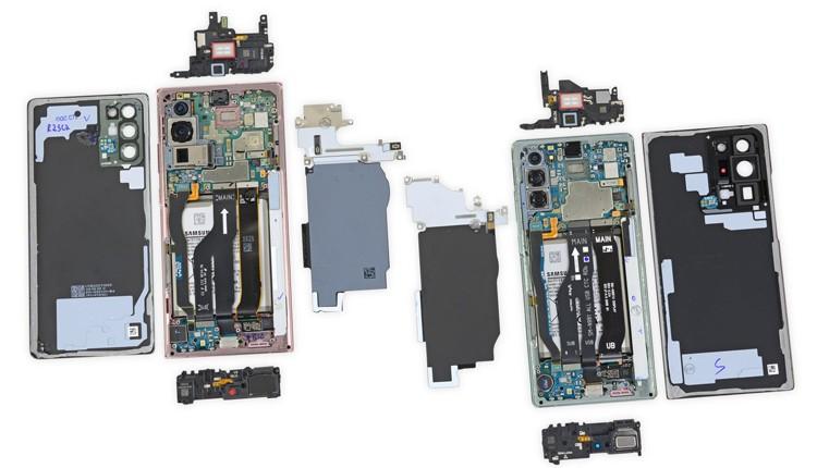 На троечку: ремонтопригодность телефонов Samsung Galaxy Note 20 оставляет желать лучшего