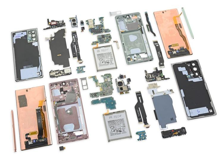 На троечку: ремонтопригодность телефонов Samsung Galaxy Note 20 оставляет вожделеть наилучшего