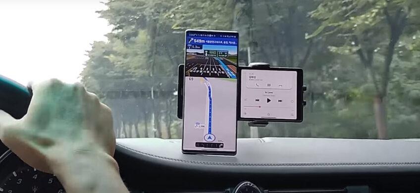 Уникальный смартфон LG Wing с поворотным экраном показали вживую
