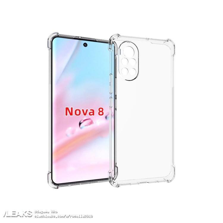 Huawei Nova 8 показали со всех сторон
