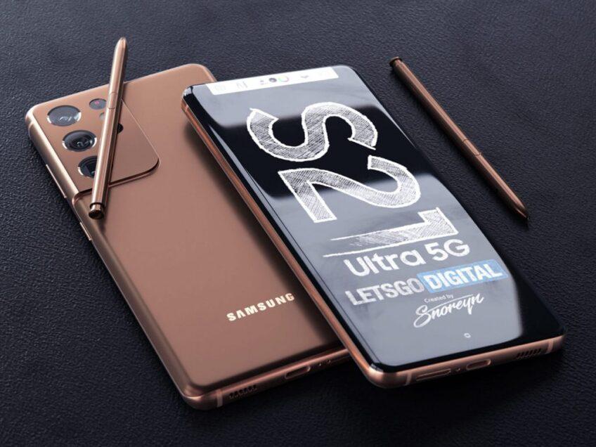 Полноценная замена Galaxy Note20. Samsung Galaxy S21 Ultra со стилусом S Pen на больших и красивых рендерах