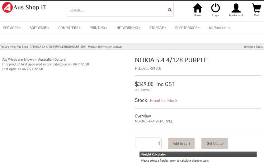 Nokia 5.4 дороже предшественника, но ненамного