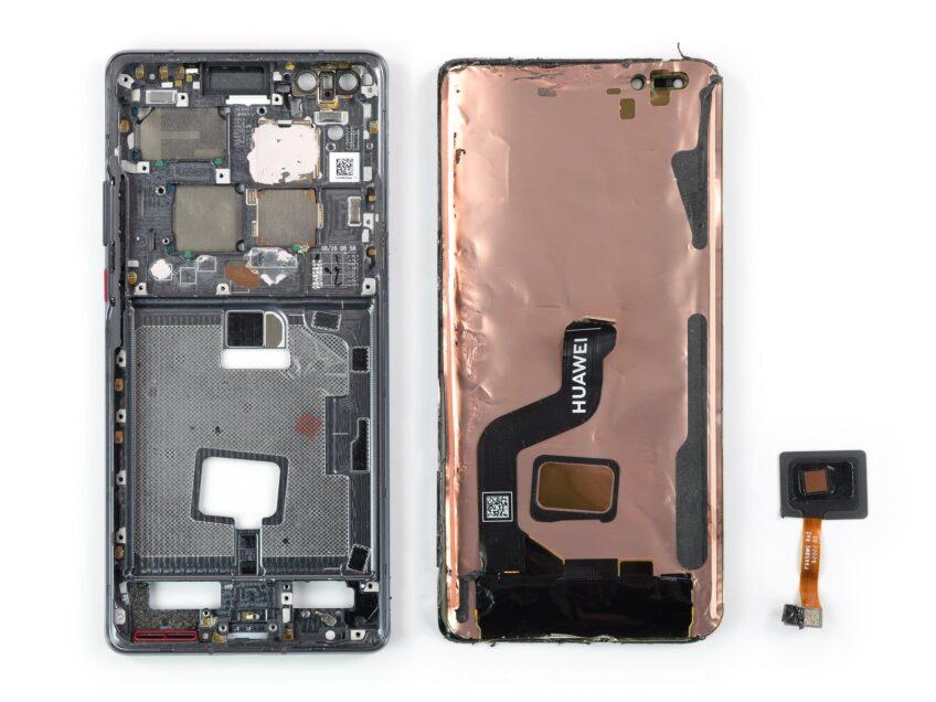 Разборка Huawei Mate 40 Pro показала, что его экран лучше не бить