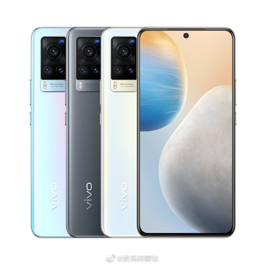Утечка пресс-фото и деталей об экранах Vivo X60 и X60 Pro до объявления