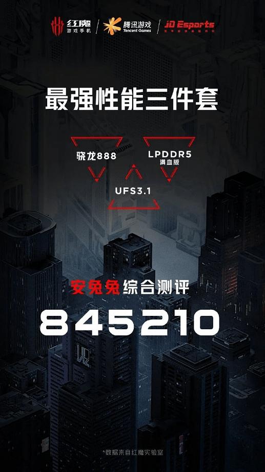 845 210 баллов в AnTuTu - абсолютный рекорд бенчмарка установил смартфон RedMagic 6R