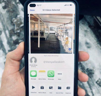 Apple будет использовать дырявый экран в новом iPhone