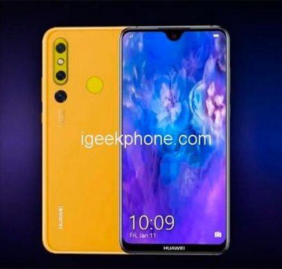 Huawei Nova 4E вместо отверстия в дисплее получит каплевидный вырез