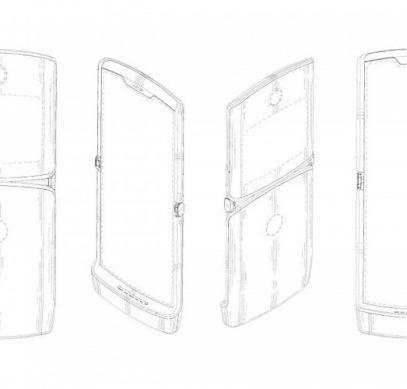 Патент раскрыл внешний облик смартфона Motorola RAZR 2019