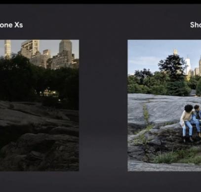 Фото демонстрирует преимущество Google Pixel 3 над iPhone XS в ночной съемке