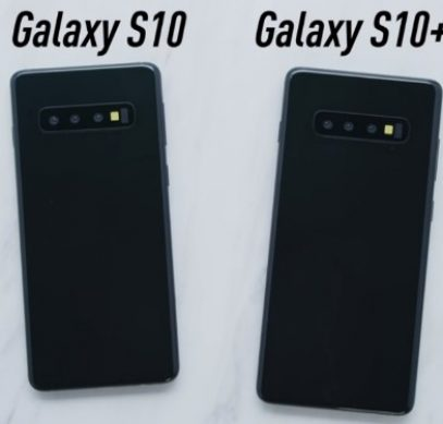 Макеты Samsung Galaxy S10 и S10 Plus