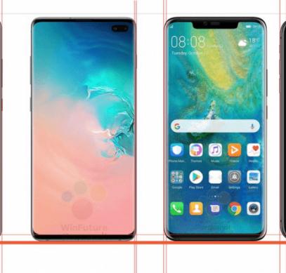 Инсайдер сравнил Samsung Galaxy S10+, Huawei Mate 20 Pro и iPhone XS Max по ширине рамок экранов