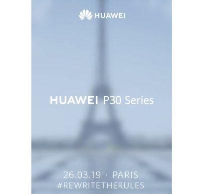 Мощные смартфоны Huawei P30 Series дебютируют в конце марта в Париже