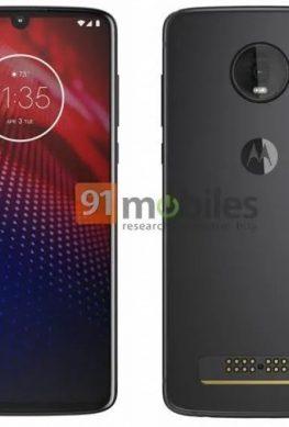 Рендер смартфона Moto Z4 - 1