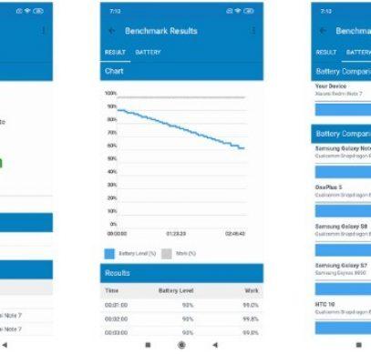 Тест автономности Redmi Note 7 в Geekbench