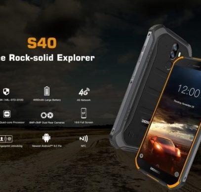 Защищённый смартфон Doogee S40 с батареей на 4650 мА·ч оценен в $100
