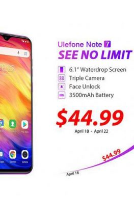 Гораздо доступнее Redmi 7, и с тройной камерой. Ulefone Note 7 можно купить всего за $45