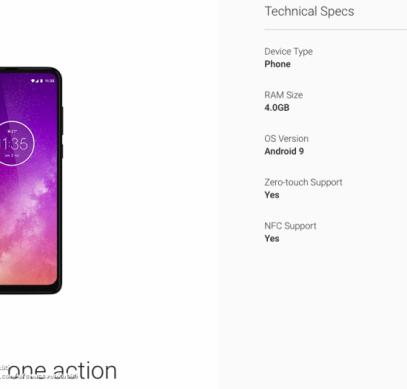Motorola One Macro - еще один смартфон обновленной линейки. Первое изображение Motorola One Action