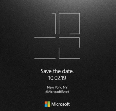 Microsoft представит 2 октября новые устройства Surface