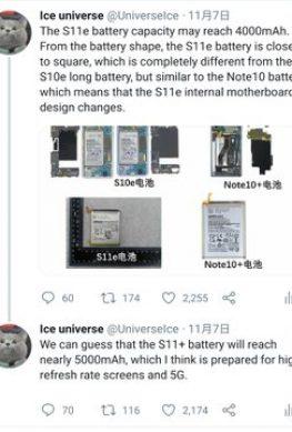 Samsung Galaxy S11+ предложит емкую батарейку и 108 Мп камеру