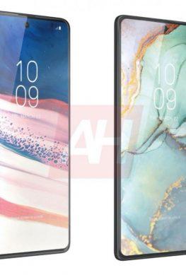 Samsung Galaxy S10 Lite и Galaxy Note 10 Lite на сравнительном рендере